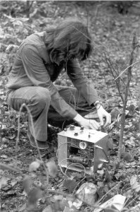 mobile transmitter in a field