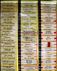 photo of jukebox selection