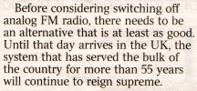 FM still superior and not switching off letter to The Times
